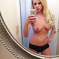 Blonde hottie does some IPhone selfies - image