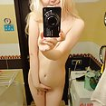 Perfect and pale self shot nude blonde - image