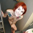 Stunning new young emo girl candid pictures in the shower - image