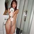 Stunning nude teen caught nude in the shower - image