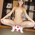 Pics of my girl friend naked in the rec room - image