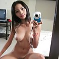 Big tits Asian girl mirror selfies - image