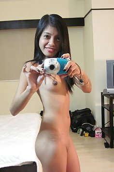Cute Asian selfie girl shows you everything