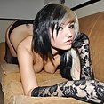 Stunning goth girl teasing with a perfect body - image