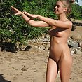 Drunk chicks get a little bit out of control at a nude beach - image