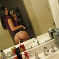 This teen gf shows off her perfect breasts in these mirror shots - image