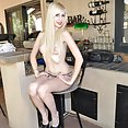 Rowdy looking emo girl goes naked outdoors - image