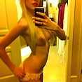 Blonde nude IPhone selfies - image