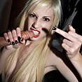 More penis worship from goth girls - image