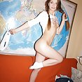 Nude and nubile skinny young teen Mia - image