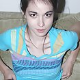 Erect and perky teen nipples on skinny porn starlet Emily Grey - image