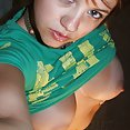 Horny teen takes her self pics with a phone cam - image