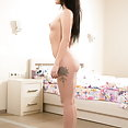 Skinny blue eyed Russian teen nude casting  - image