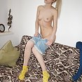 Pale blonde dream girl Erica - image