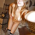 Perfectly blonde and green eyed Kira poses nude - image
