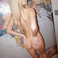 Skinny and blonde cutie Erica from She Devils nude - image