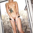 Gang tattoos on skinny hot blonde babe Ameliya from She Devils - image