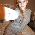 Perfect and perky puffy nipples on teen blonde cam girl Kira - image