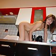 Flat chested Polish girl nude at home - image