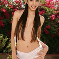 Perfectly proportioned nude Latina Asian girl Alexis Love skinny and big tits - image