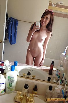 Cute nude selfies from mixed amerasian skinny mirror girl