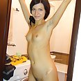 Ultra skinny Russian dream girl Lina naked at home - image