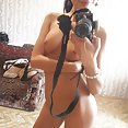 Gorgeous and wild webcam chick Dominika behind the scenes nude selfies - image