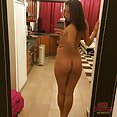 Self shot and hot nude amateur college chick Mila cam show out takes - image