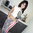 Russian dream teen Alisa comes to America and gets naked - image
