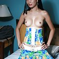 Cute and skinny Asian amateur teen posing nude - image