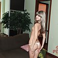 Stripping all the way down with skinny and  hot teen dream Doris Ivy - image