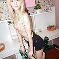 Skinny and naked nerd girl Erica from Russia - image